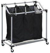 Honey-Can-Do SRT-01641 Triple Laundry Sorter, Steel/Black