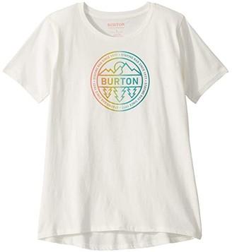 Burton Callon Short Sleeve T-Shirt (Little Kids/Big Kids) (Stout White) Girl's Clothing