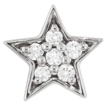 Andrea Fohrman Mini Diamond Star Single Stud Earring - White Gold