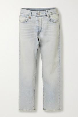 R 13 Mid-rise Boyfriend Jeans - Light denim