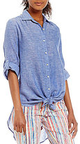 Westbound Roll Sleeve Tie Front Shirt