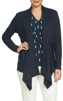 Chaus Nautical Breeze Rib Knit Cardigan