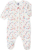 Petit Bateau Baby girl's multico polka dot cotton-blend sleepsuit