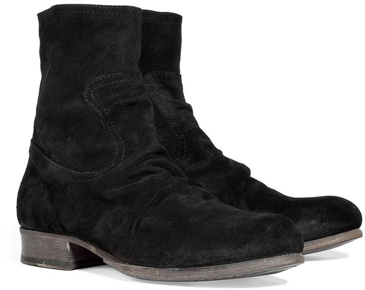 Fiorentini+Baker Fiorentini & Baker Black Wrinkled Suede Boots