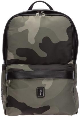 Neil Barrett Camouflage Print Logo Patch Backpack