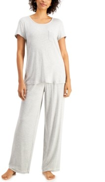 Alfani Women's Ultra-Soft Pajama Set, Created for Macy's