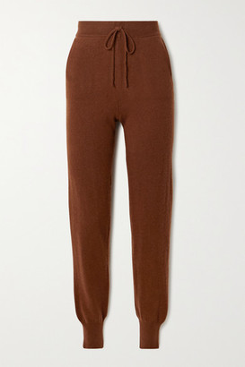 LOULOU STUDIO Maddalena Cashmere Track Pants - Brown