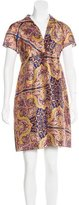 Carven Silk Printed Dress w/ Tags