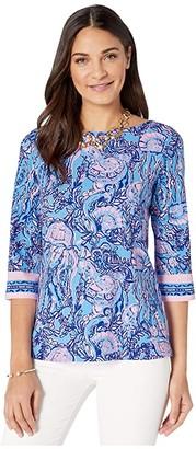 Lilly Pulitzer Waverly Top (Lapis Lazuli Horseshoe Bay) Women's Clothing