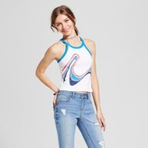 Mossimo Women's Knit Graphic Cami Blue