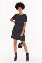 Nasty Gal Womens Gonna Go Star Relaxed Mini Dress - black - 6, Black