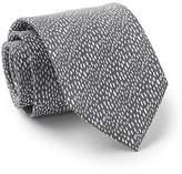 Savile Row Men's Grey White Raining Silk Tie