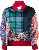 Esteban Cortazar patchwork bomber jacket