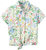 Carter's Girls Short Sleeve Button-Front Shirt