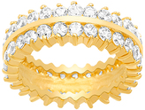 Bliss Cubic Zirconia & Gold Two-Row Band Ring