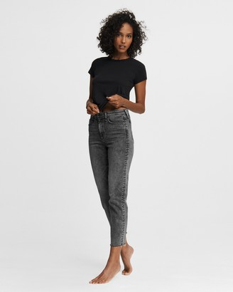 Rag & Bone Nina high-rise cigarette - black sage