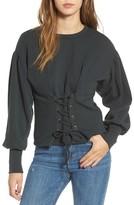 June & Hudson Women's Corset Sweatshirt