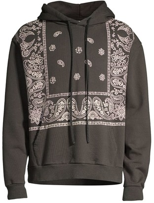 So Far So Good Regular-Fit Bandana-Print Hoodie