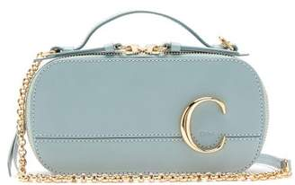 Chloé The C Structured Leather Cross-body Bag - Womens - Blue
