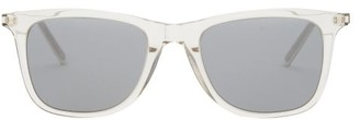 Saint Laurent D-frame Transparent Acetate Sunglasses - Beige