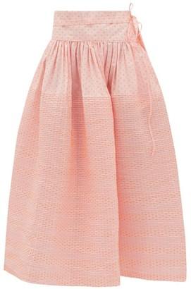 Horror Vacui Toga Swiss-dot Cotton Skirt - Pink