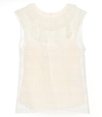 RED Valentino Sleeveless lace top