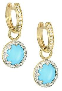 Jude Frances Women's Provence 18K Yellow Gold, Diamond & Turquoise Pavé Trio Earring Charms