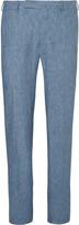 Ermenegildo Zegna - Blue Mélange Linen Trousers