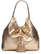 Michael Kors Camden Large Metallic-Leather Drawstring Shoulder Bag
