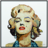 """Empire Art Direct """"Homage to Marilyn"""" Printed Wall Art w/ Black Anodized Aluminum Frame"""
