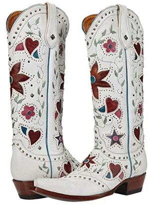 Old Gringo Lovers Flowers II 15 (White) Women's Boots