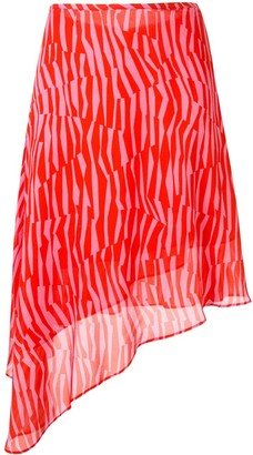 CK Calvin Klein Georgette stripe patterned skirt