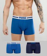 Puma 2 Pack Logo Boxers In Blue 651003001056