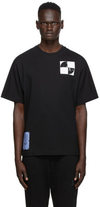 McQ Black Graphic Relaxed T-Shirt