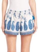 Calypso St. Barth Nilaya Printed Silk Shorts