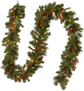 Crestwood National Tree Company 9'x10 Spruce Garland w/ 50 Battery Operated Soft White LED