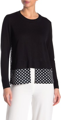 Cliche Printed Twofer Sweater