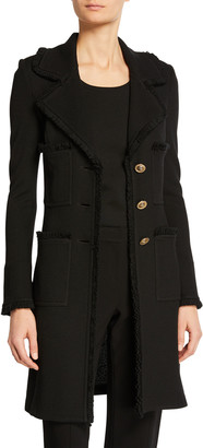 St. John Milano Pique Fit and Flare Topper Coat