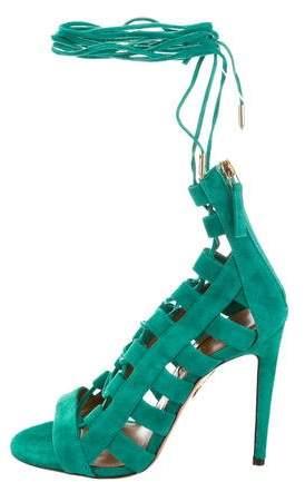 Aquazzura Amazon Lace-Up Sandals