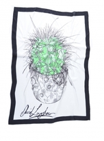 David Longshaw A CACTUS OF A CERTAIN AGE SILK SCARF