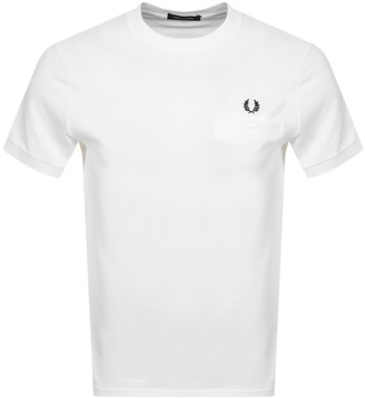 Fred Perry Pocket Detail T Shirt White