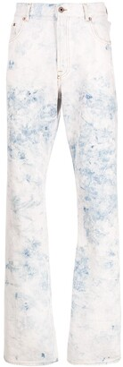 Off-White Bleached Bootcut Jeans