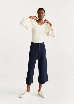 MANGO Buttons culottes trousers white - XXS - Women