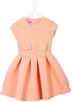 Valmax Kids bow detail cube print dress
