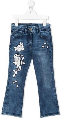 MonnaLisa Stonewashed Embroidered Jeans
