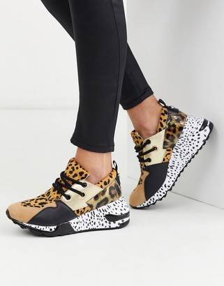 Steve Madden Cliff chunky sneakers in leopard mix