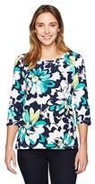 Alfred Dunner Women's Brushstroke Floral T-Shirt