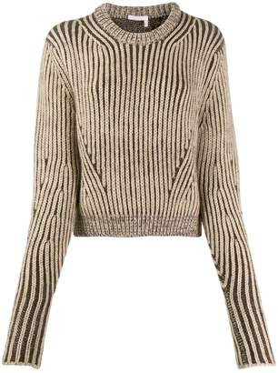 Chloé cropped knitted jumper