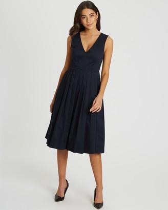 Willa Cambridge Pleated Midi Dress
