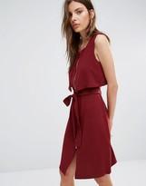 Vila Zip Front Belted Dress